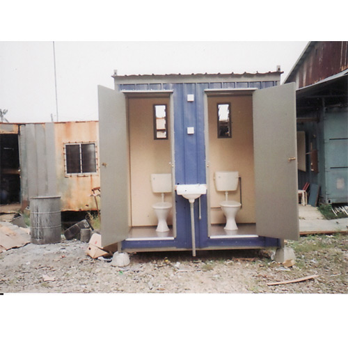 Two Compartment Toilet Cabin